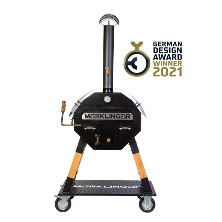 Merklinger Holzbackofen Grill Pizzaofen Brotbackofen 800 Frontalansicht German Design Award 2021