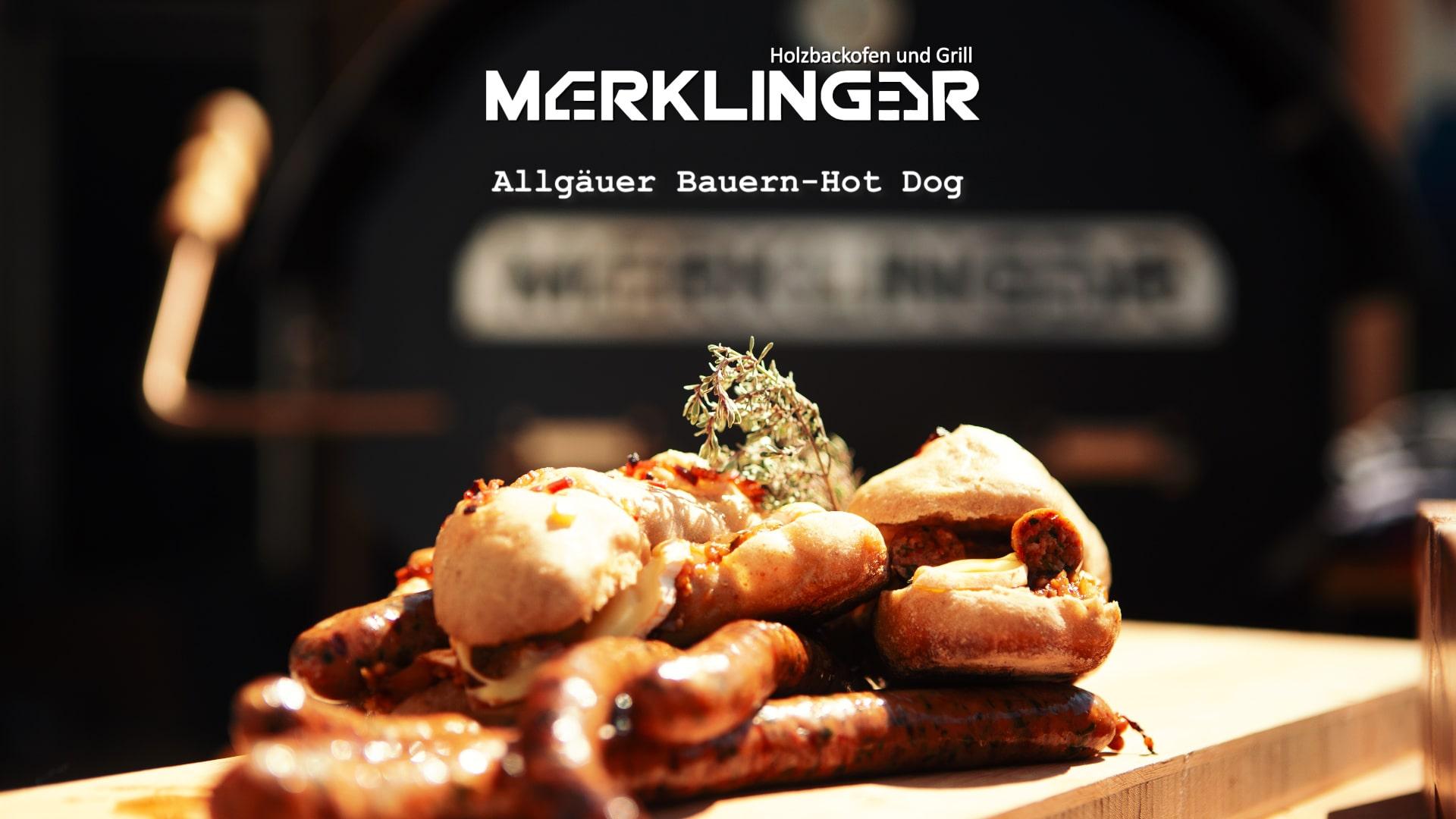 Merklinger Holzbackofen Grill Pizzaofen Brotbackofen Rezept Allgäuer Bauern Hot Dog