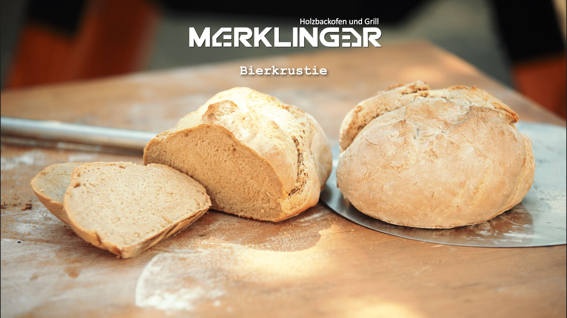 Merklinger Holzbackofen Grill Pizzaofen Brotbackofen Rezept Bierkrustie Brot