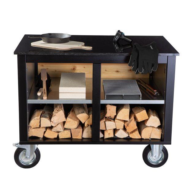 merklinger-holzbackofen-grill-pizzaofen-brotbackofen-mobiler-seitentisch-granit-ablage-zubehoer1-schwarz